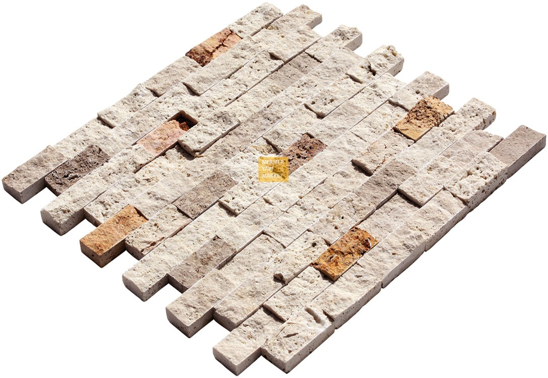 Patlatma Traverten Mozaik - Üçlü Miks