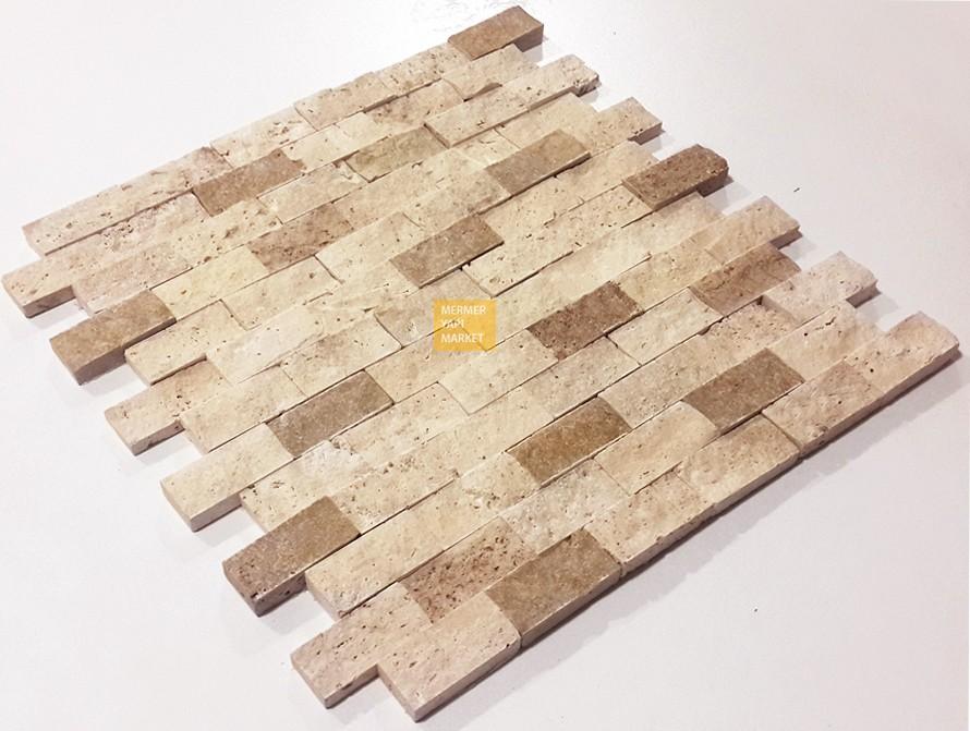 Klasik Traverten Patlatma Mozaik - İkili Miks