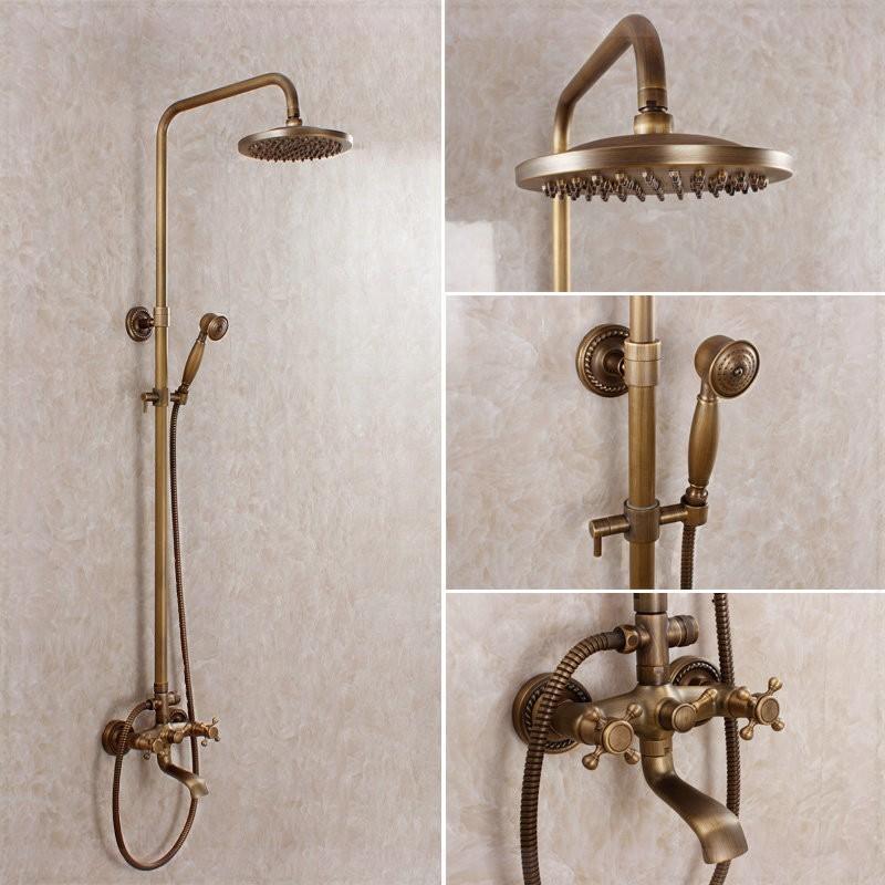 Eskitme Antik Duş Takımı Seti