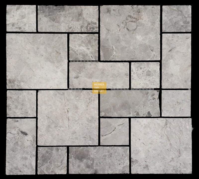 Tundra Grey Mermer Set Mozaik