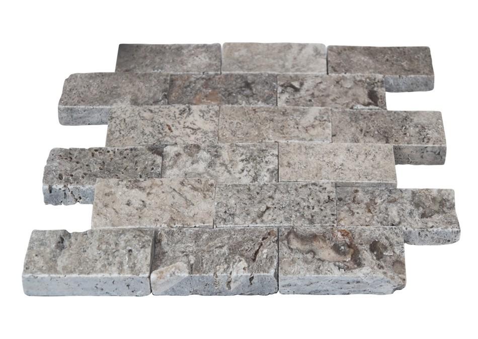 Gümüş Traverten Patlatma Mozaik