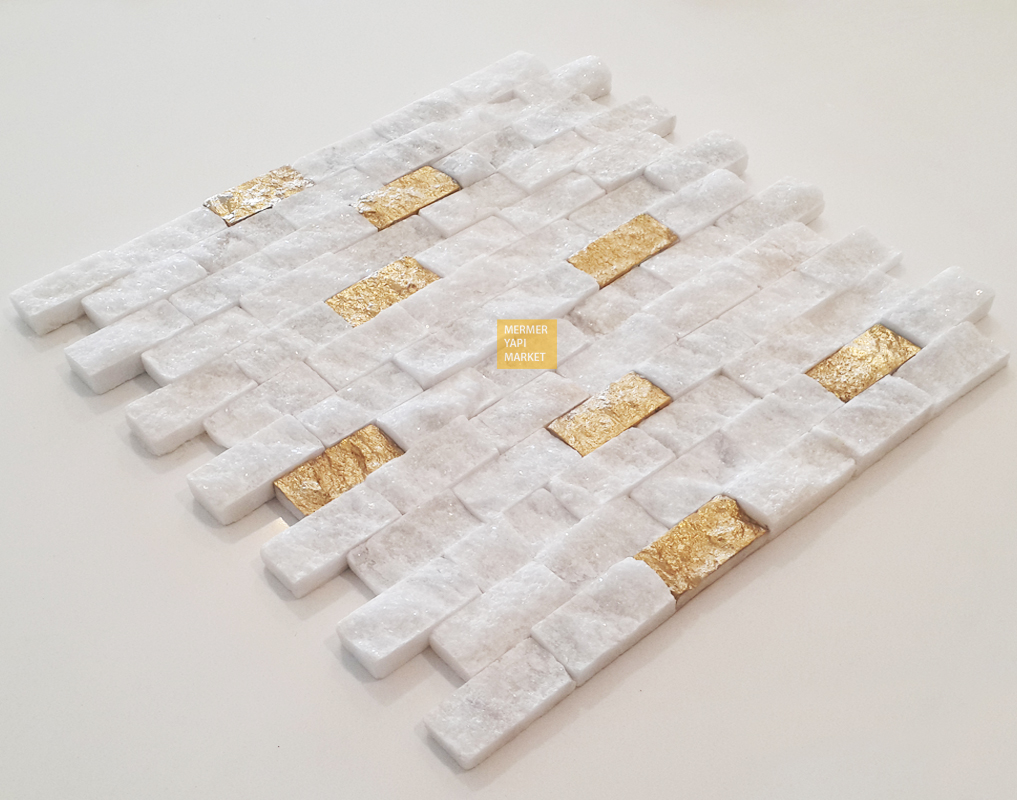 Uşak Beyazı - Altın Sarısı Yaldızlı