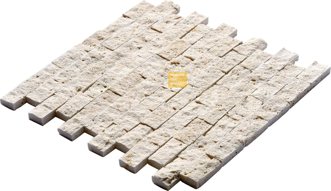 Light Traverten Patlatma Mozaik